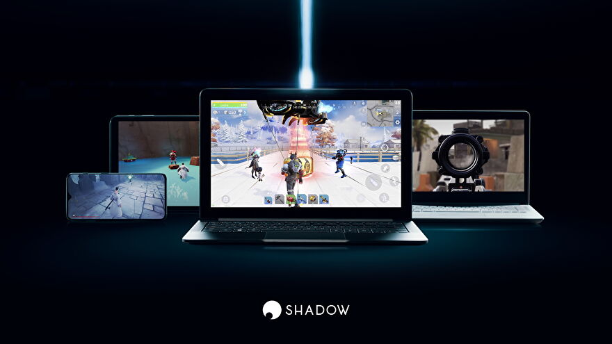 Shadow cloud gaming service running on multiple PC devices