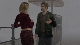 Maria and James talking in a screenshot from Silent Hill 2's Enhanced Edition mod.