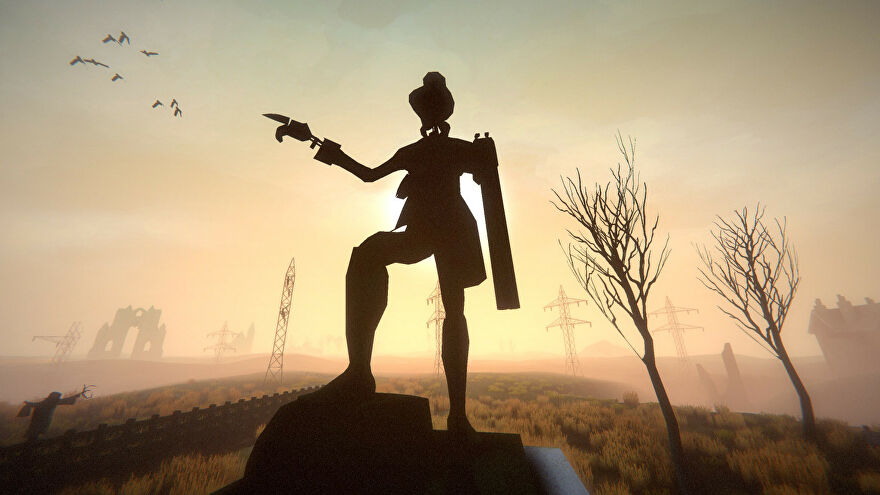 A remastered robot in a Sir, You Are Being Hunted: Reinvented Edition screenshot.