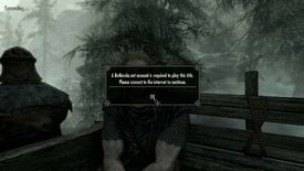 Image for Skyrim satirical mod adds the login frustration of Doom's new console releases