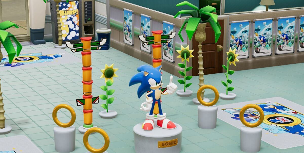 Sonic is now in Two Point Hospital, but sadly there is no cure