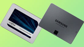 a photo of two 2.5-inch sata ssds side by side: the samsung 870 qvo and crucial mx500
