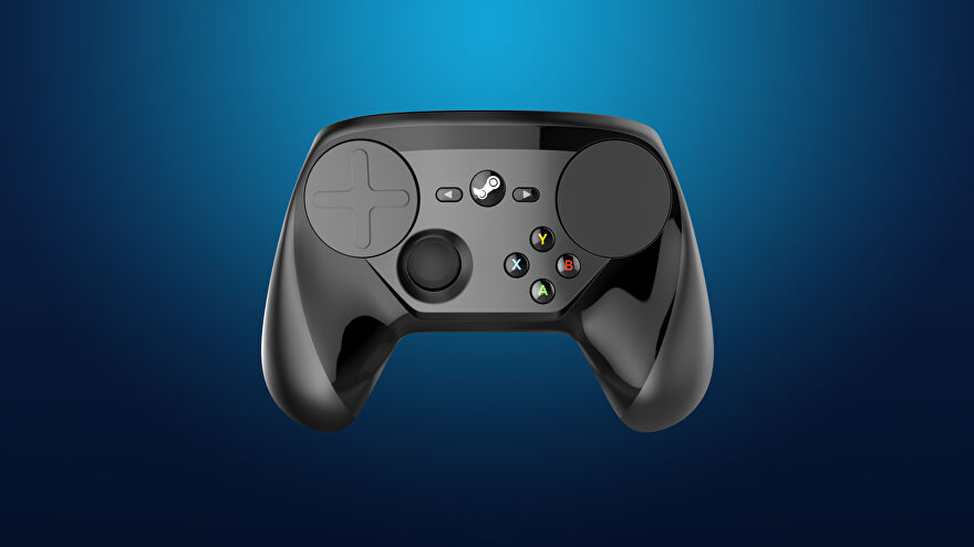 An image showing a Steam Controller.