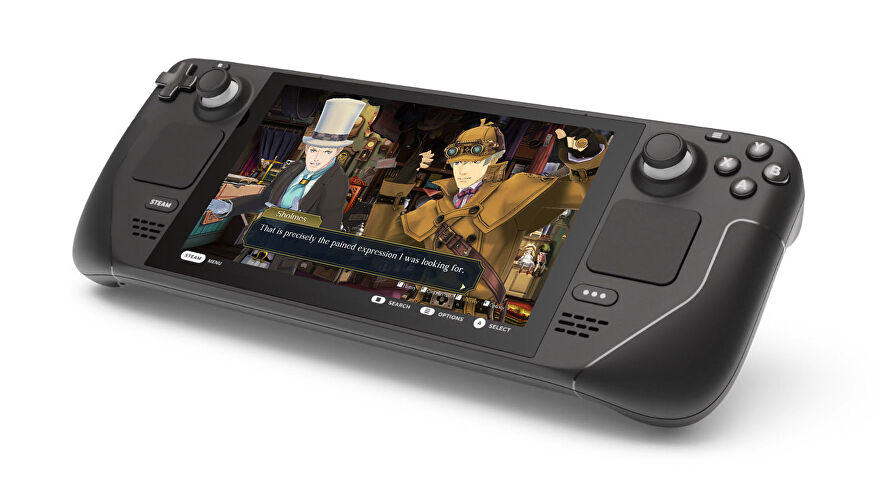 A screenshot of The Great Ace Attorney on the Steam Deck