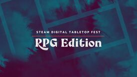 """Text over a purple and blue tie-dye background reading """"Steam Digital Tabletop Fest RPG Edition"""""""