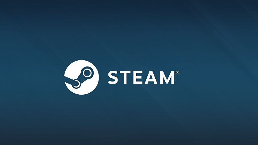 The Steam logo on a blue background.