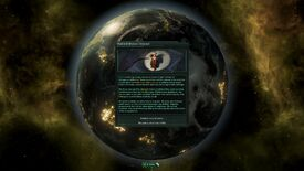 A screenshot of Stellaris Nemesis showing some text in a box over a picture of a planet. It's not very exciting, as images go.