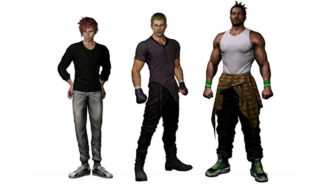 Stranger Of Paradise Final Fantasy Origin character renders showing the party in casual wear.