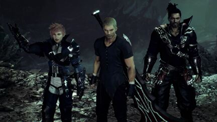 A screenshot of the three lead characters from Stranger Of Paradise Final Fantasy Origin