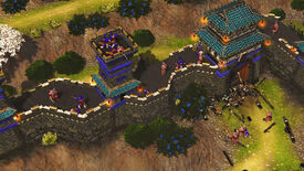 A screenshot of combat in RTS Stronghold: Warlords