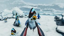 A screenshot of Subnautica: Below Zero showing its various biomes, flora and fauna.