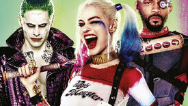 The heroes of Suicide Squad pose on the Blu-ray box art.