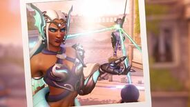 A woman in a mermaid summer outfit in Overwatch