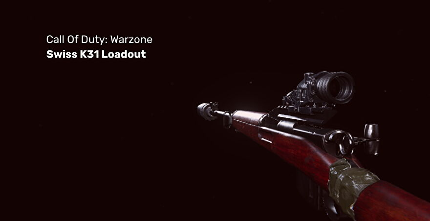 Warzone's Swiss K31 on a blank background
