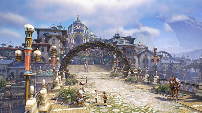 An urban scene from Tales Of Arise