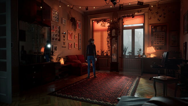 A warm, dimly-lit room from The Medium with ultra ray tracing effects