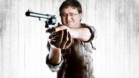 The Evil Within protagonist Sebastian Castellanos with the face of Gabe Newell