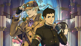 An image showing the cast of characters from The Great Ace Attorney games.
