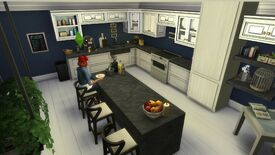 Image for To practise for our The Sims 4 Tiny Living building competition, I built a giant kitchen