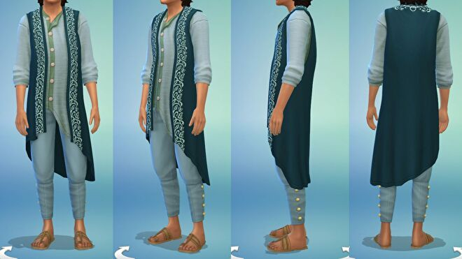 The Sims 4 clothing styles inspired by Mumbai, India's Fashion Street.