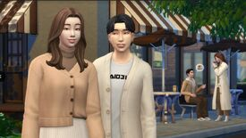 The Sims 4 clothing inspired by South Korean celebrity airport culture.