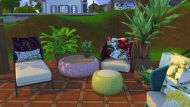 Image for Imagine it is worth going outside with this beautiful wicker furniture set for The Sims 4