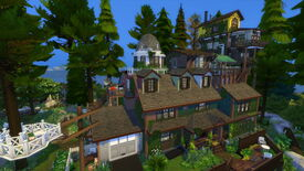Image for What Remains Of Edith Finch's house rebuilt in The Sims 4 is wild