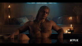 Image for If Netflix's Witcher isn't based on the games, why that shot of Geralt in the bath?