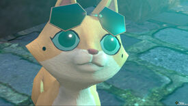 The Good Life - Naomi, transformed into a small orange cat, wears sunglasses on her head