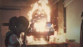 Image for Resident Evil 2 mods replace Mr. X with an equally terrifying Thomas The Tank Engine