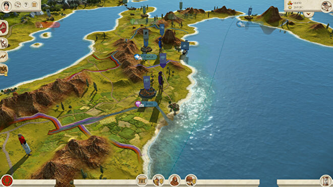The campaign map in a Total War: Rome Remastered screenshot.