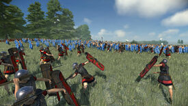 A battle in a Total War: Rome Remastered screenshot.