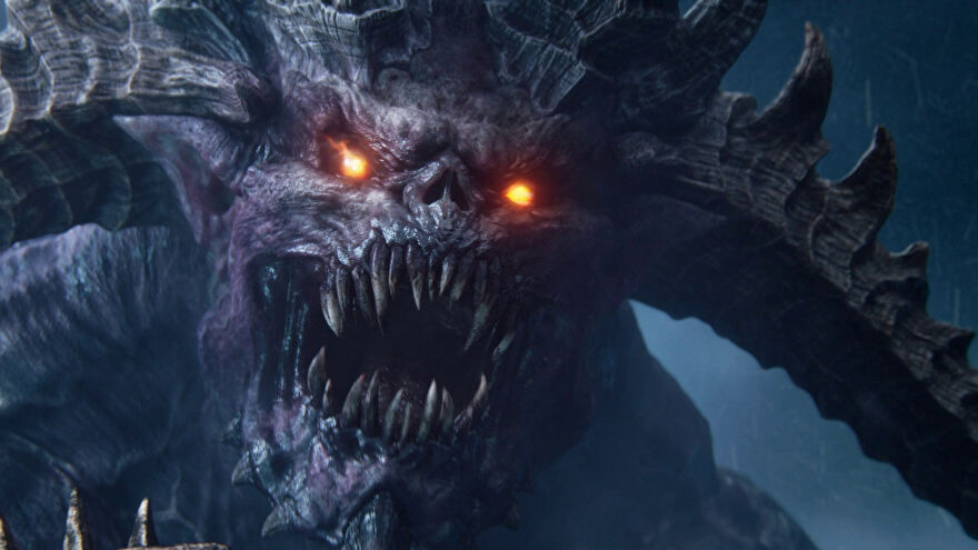 A big Chaos nastie in the Total War: Warhammer 3 cinematic trailer.