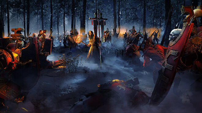 Kislev and Chaos forces clash in a Total War: Warhammer 3 screenshot.