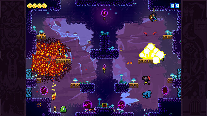 Players duke it out in Towerfall Ascension.