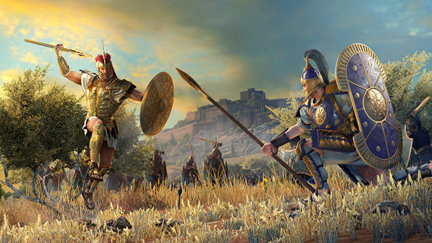 Two soldiers fight in A Total War Saga: Troy