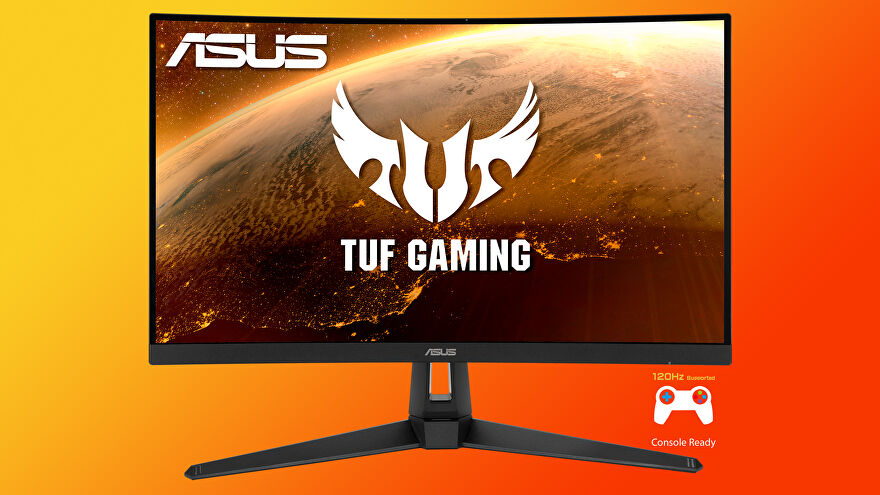 a photo of an asus tuf gaming vg27wq monitor, a 27-in 1440p 165Hz model