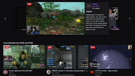A screenshot of Twitch's homepage.