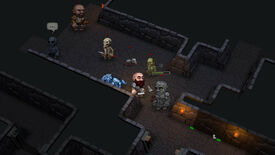 Dungeon violence in a cropped Ultimate ADOM screenshot.