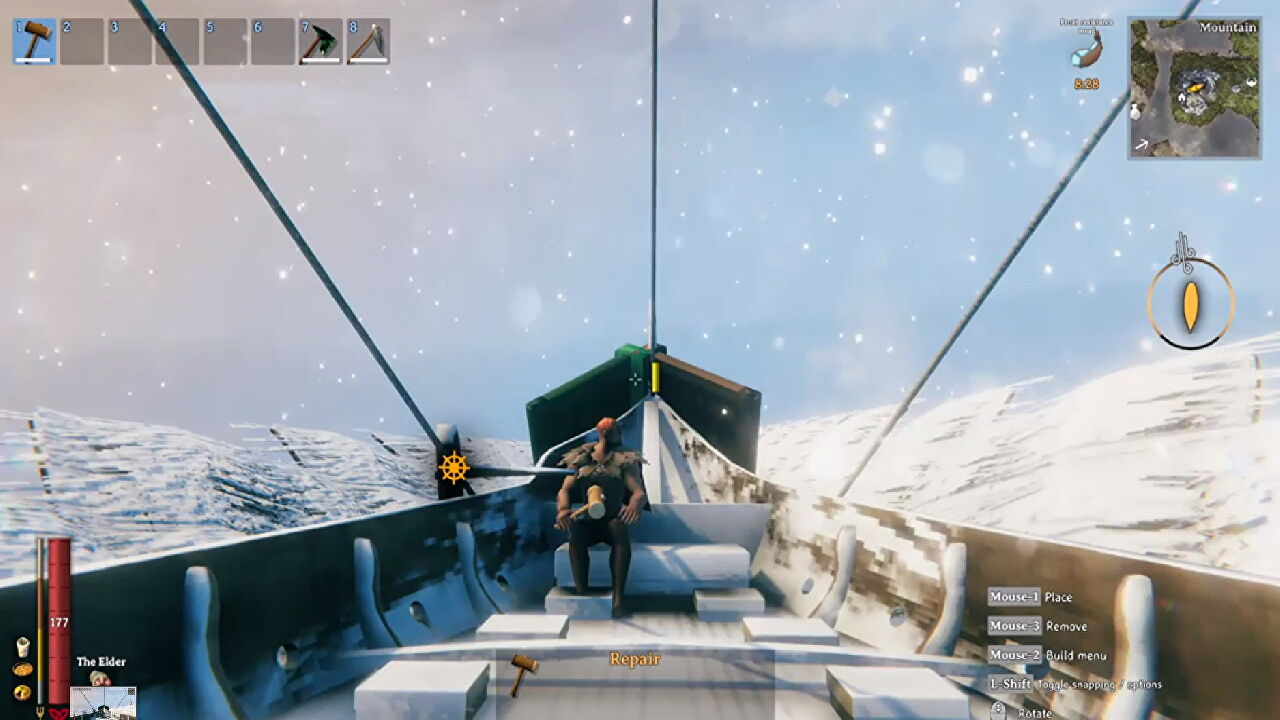 Valheim player discovers that the sea is one big trampoline