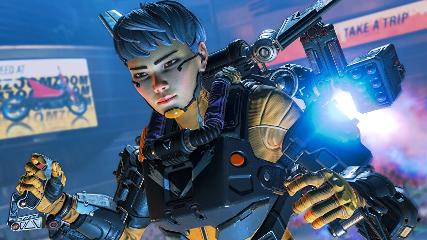 Apex Legends' Valk looking cooler than everyone with her jetpack.