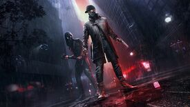 A piece of key art for Watch Dogs Legion's Bloodline DLC, showing Aiden Pearce and Watch Dog 2's Wrench in the middle of London.
