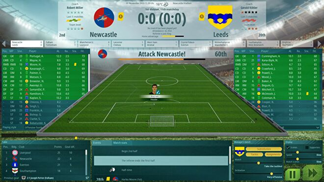 A match in a We Are Football screenshot.