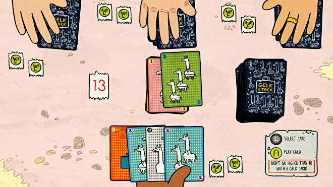 Welcome To Elk's very addictive card game Gelt Stack