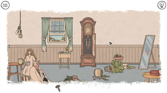 An apartment in disarray in When The Past Was Around