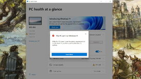 The Windows 11 PC health check app saying a PC cannot upgrade to Windows 11