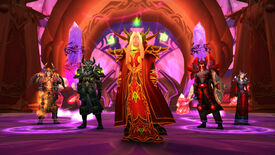 A group photo in World of Warcraft: Burning Crusade Classic.