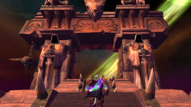 Approaching the Dark Portal in a World Of Warcraft: Burning Crusade screenshot.