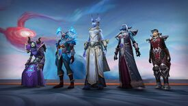 World Of Warcraft Shadowlands characters in Coevenant armour.