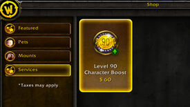 Image for This Means War: WoW's Level 90 Boost To Cost $60